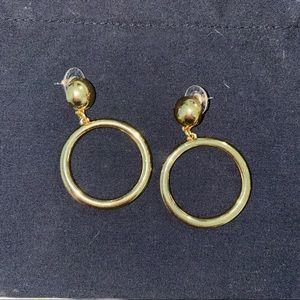 Bauble Bar gold hoop earrings